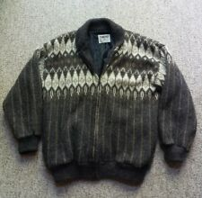 Vintage Tundra Canada Sweater 100% Pure Virgin Wool Ski Snow Lined Jacket Large