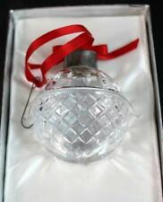 Lenox CRYSTAL BALL ORNAMENT Deep Cut Crystal 1984 GREAT CONDITION w/box