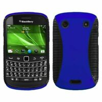 Rubberized Dark Blue/Black Mixy Case Cover For Blackberry Bold 9900 Bold 9930