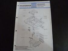 Original Service Manual Telefunken Recorder HCC 6B Hifi Plattenspieler Dual 504