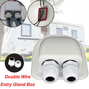 Cable Entry Gland Double Hole Waterproof Junction Box ABS RV Solar Panel Roof
