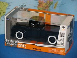 1/32 JADA BIGTIME MUSCLE 1956 FORD F-100 BLACK LOPRO EDITION *BRAND NEW & RARE*