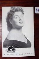 Postkarte Ansichtskarte Schauspielerin Autogramm Liselotte Malkowsky
