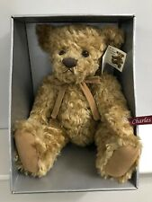 """Vintage Discontinued Russ Berrie Bear 18"""" Charles Platinum Collection Boxed New"""
