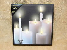 Tapers and Pillars Candles BEAUTIFUL Lighted Canvas Wall Decor Sign - NEW!