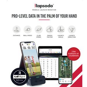 Rapsodo Golf Mobile Launch Monitor  Swing Speed, Distance &  Case Skytrack style