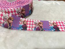 50mm Frozen Elsa Anna Grosgrain Ribbon Craft DIY Cake Decoration Bows Per Meter