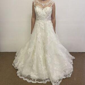 Dando London Christine Dando Bette Davis Wedding Dress UK Size 14 Ivory (#H1/08)