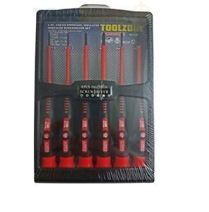 Toolzone 6PC PRECISION SCREWDRIVER SET HIGH QUALITY VDE (tool) * small DIY Tools