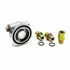 3/4-16 UNF Oil Filter Sandwich Plate +Thermostat Adapter AN10 Fitting Oil Cooler