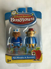 Richard Scarry's Busy Town Figures Sgt.Murphy & Bananas Town 2011 Set New