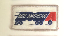 Mid American Lines (MA) truck driver patch 2 X 3-5/8 #4087