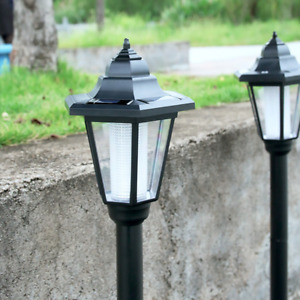 Garden LED Lights Lamp Post Solar Powered Borders Pathway Driveway Outdoor Patio