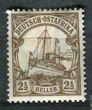 GERMAN COLONIES; EAST AFRICA 1905 early Wmk. Yacht type Mint hinged 2.5h.