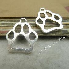 50pc Tibetan Silver Bear's paw Animal Pendant Charms Beads accessories  PL1142