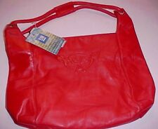 GM Corvette Logo Genuine Leather Women Red Handbag Madhouse Marketing New NWT