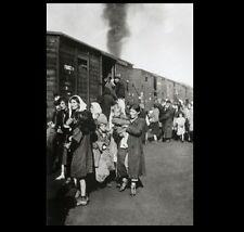 German Concentration Camp Train PHOTO World War II Polish Jews Board Holocaust