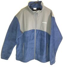 Columbia Men's Fleece Jacket 2XL 2X XXL Blue Grey EUC