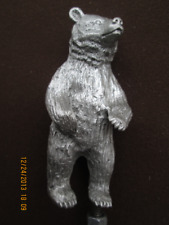 bear grizzly kodiak black alaska ratrod  hotrod car hood ornament