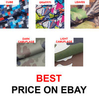 5 MODELS!! WATERPROOF OUTDOOR PRINTED CANVAS FABRIC MATERIAL COVER CORDURA TYPE!