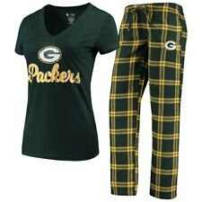 NFL Green Bay Packers Women's Concepts Sport Troupe Pajama Set-Green