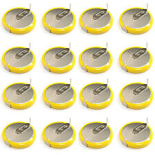 16 pcs LIR2032 Li-ion 3.6V Rechargeable Button Coin Cell Battery w/Tab US Stock