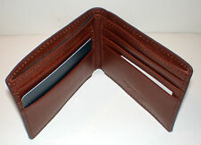 Brown Smooth Leather ULTRA SLIM WALLET Roundtree & Yorke New in Box $40