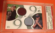 2002 UD SP Game Used GOLF #F9DWL Mike WEIR Ian LEGGATT /200 Double JERSEY Fabric