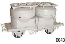 Dapol C043 Prestwin Twin Silo Bulk Cement Wagon 00 Gauge Plastic Kit - 1st Post