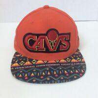 Cleveland CAVS Hardwood Classics NBA Tribal Brim Snapback Hat Cap New Era