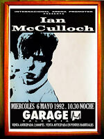 POSTER CARTEL CONCIERTO DE - IAN McCULLOCH ECHO AND THE BUNNYMEN -GARAGE ARENA