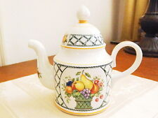 Villeroy & Boch China BASKET Individual Cofee Pot w/Lid  W Germany RARE - NICE!
