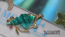 TAGLIAMONTE(688)Pendant*YGP925*MARINA*LRG Laguna Seashell Venetian Cameo+Gems