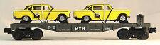 MTH 30-7625 MTH Auto Transport Flat Car w/Ertl '59 Taxis