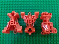 USED LEGO 3x Bionicle Body Torso Trunks Gearboxes Item No: 32489 all in red