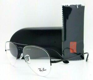 NEW Rayban Rx Eyeglasses Frame RX6589 2503 56mm Black Metal 6589 GENUINE Aviator