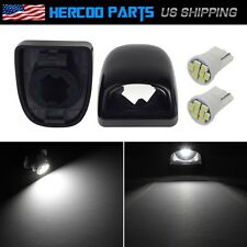 Pair License Plate Light Lens w/ White 8 SMD LED Bulb for 07-12 GMC Chevy Truck