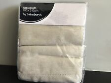 Cream/beige Linen Tablecloth 180cm X 140cm - New In Packet