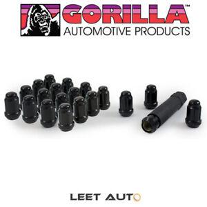 Gorilla (20) Small Diameter Lug Nuts, 12mm x 1.50, Acorn, Black, 12x1.5 21133BC