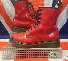8 Eye 1460 W*Cherry Bright Red Patent Leather Dr Doc Martens*Grunge*Skingirl*6