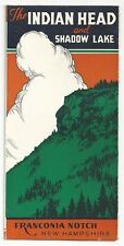 1930's Vacation Brochure - The Indian Head and Shadow Lake - Franconia Notch, NH