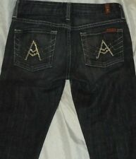 7 Seven For All Mankind Women's Dark A Pocket Glittery Jeans Size 26 28 x 29