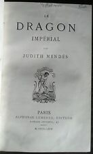 Judith MENDES (GAUTIER). LE DRAGON IMPERIAL. 1st Edition. Paris 1869 Red Leather