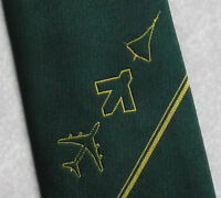 Vintage Tie MENS Necktie Retro CONCORDE AEROPLANE