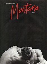 Publicité Advertising 1990  Parfum  d' homme  MONTANA