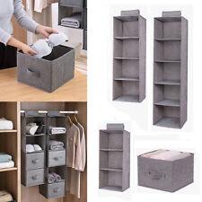 HOT Tidy Hanger Kids Hanging Wardrobe Storage Organiser Shelf Clothes Bag Box