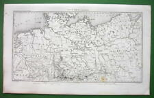 1859 ANTIQUE MAP - Northern Germany & Eastern Poland
