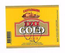 MARK WAUGH - AUSSIE CRICKET GREAT - HAND SIGNED BEER LABEL - XXXX GOLD