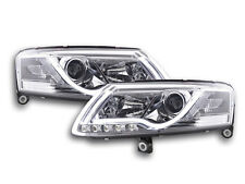 Scheinwerfer Daylight LED Lightbar TFL-Optik Audi A6 4F Bj. 04-08 chrom Scheinwe