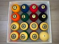 Brunswick Centennial Gold Crown Pocket Balls Pool table Billiards
